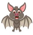 Happy Vampire Bat Cartoon Character Flying vector image