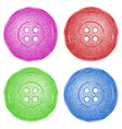 4 colored plastic sewing buttons of classic vector image vector image