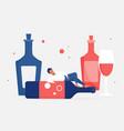 alcohol addiction concept adult man addict vector image