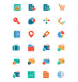 Banking and Finance Colored Icons 5 vector image vector image
