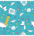 Bath equipment colorful seamless pattern vector image vector image