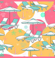 beach seamless pattern lounge chair on vector image vector image