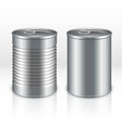 Blank metal products container tin cans isolated vector image vector image