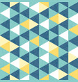 blue and yellow triangle texture seamless vector image vector image
