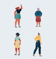 body positive female charactes different women on vector image vector image