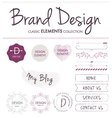 BRAND DESIGN ELEMENTS vector image vector image
