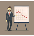Businessman Presentation Falling Down vector image