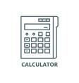 calculator line icon calculator outline vector image vector image