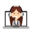 call center operator avatar vector image