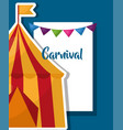 carnival fair festival vector image vector image