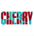 Cherry sign vector image