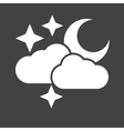 Cloudy with moon vector image vector image