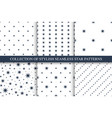 collection of seamless star patterns vector image vector image