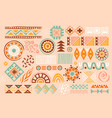 colorful african abstract art shapes on pastel vector image