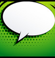 comic chat bubble on green background with vector image vector image