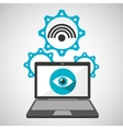 computer security wifi social network concept vector image vector image