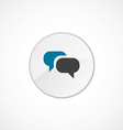 Conversation icon 2 colored vector image vector image