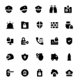 Crime Security and Defense Icons 1 vector image vector image