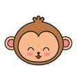 cute monkey animal tender isolated icon vector image