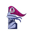 cybernetic pirate with flag bug avatar vector image vector image