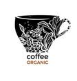 design cup coffee vector image vector image