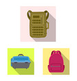 design of suitcase and baggage icon set of vector image