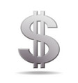 dollar symbol with two vertical lines i vector image vector image