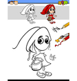 drawing and coloring task for children vector image vector image