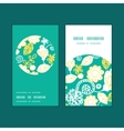 emerald flowerals vertical round frame vector image vector image