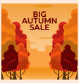 fall sale design can be used for flyers banners vector image