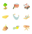 Firewood icons set cartoon style vector image vector image