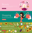 Flat design concept for beauty shopping and health vector image vector image