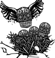 Flock of Death vector image vector image