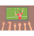 football fans in the bar vector image vector image