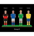 Football players Soccer teams Belgium Italy vector image vector image