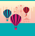 fun fair carnival vector image vector image