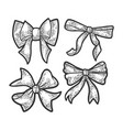 gift bow ribbon sketch vector image vector image