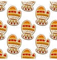 Gingerbread mitten seamless pattern vector image