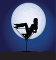 girl in martini on a moonlight vector image vector image