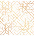 golden art deco seamless pattern background vector image