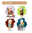 Grandmother cartoon character vector image