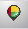 guinea bissau map pin vector image vector image