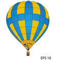 hot air balloon eps 10 vector image vector image