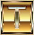 Ingot Font Letter T vector image vector image