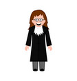 isolated female judge icon vector image