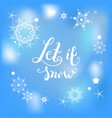 let it snow blue vector image vector image