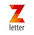 logo abstract letter Z of colored elements vector image vector image