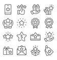 loyalty program icons set vector image vector image