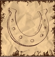 Lucky horseshoe isolated on vintage background vector image