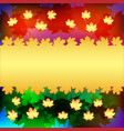 maple leaves on multicolored background vector image